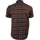 Karo Shirt von King Kerosin - braun / blau Karo