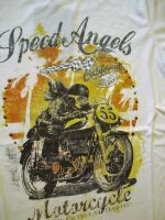 T-Shirt von Queen Kerosin - Speed Angel - Racer Girl / off white