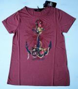 T-Shirt von Queen Kerosin - Anchor - Hello Sailor / Vintage Red