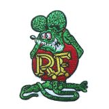 Patch - Rat Fink green/red