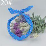 Fashion Headband /Haarband - Hellblau mit kleinen Pinken Punkten