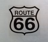 Sticker -  Route 66 / schwarz
