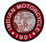 Patch - Indian Motorcycle 1901 / red