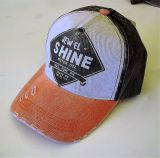 Vintage Trucker Cap - Jewel Shine - Apriko / schwarz