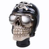 Shiftknobs - Totenkopf Sonnenbrille Schwarzer Helm mit Skull
