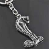 Schlüsselanhänger - Cobra Snake / Silber