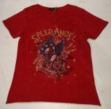 Queen Kerosin Vintage T-Shirt -  Speed Angel / Wine Rot