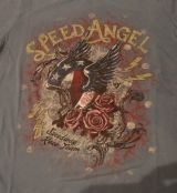 Queen Kerosin Vintage T-Shirt - Speed Angel / Petrol