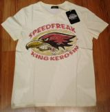 King Kerosin V-Neck T-Shirt - Speedfreak / off white