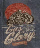 King Kerosin Regular T-Shirt / Gas & Glory - Dark Petrol
