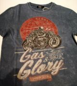 King Kerosin Regular T-Shirt / Gas & Glory - Dark Petrol