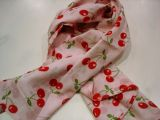Foulard - cherrys design / rosa
