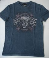 King Kerosin Regular T-Shirt / Racer Edge - Dark grey