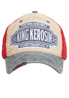 Vintage Trucker Cap - King Kerosin - Kustom Built / rot-blau