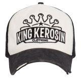 Vintage Trucker Cap - King Kerosin - Logo Krone / schwarz-beige