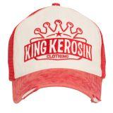 Vintage Trucker Cap - King Kerosin - Logo Krone / rot-beige