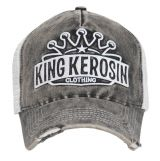 Vintage Trucker Cap - King Kerosin - Logo Krone / Schwarz-weiss