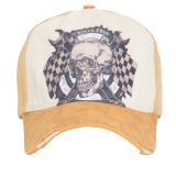 Vintage Trucker Cap - King Kerosin / Race Edge - Vintage gelb