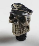 Schaltknauf- Biker Skull mit schwarzen Hut