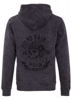Zip-Hoodie Gestickte von King Kerosin - No Pain, No Gain / Hell Rider 1959