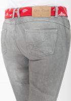 Queen Kerosin Pants - Graue Jeans