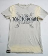 Used Airbrush Shirt von King Kerosin - Hellracer / beige