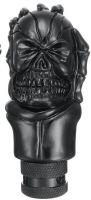 Schaltknauf - Totenschädel in Knochenhand / schwarz