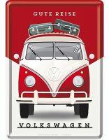 Blechpostkarte - VW / Gute Reise
