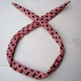 Fashion Headband /Hair Band - Rosa with Black Dots