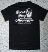 MOON EYES T-Shirt - SPEED SHOP Mooneyes / MES063BK