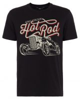 King Kerosin Regular T-Shirt / Hot Rod - schwarz