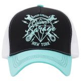 Trucker Cap von Queen Kerosin - Queen`s Garage New York /schwarz-mintgrün