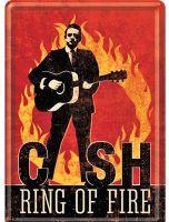 Blechpostkarte - J.Cash / Ring o Fire
