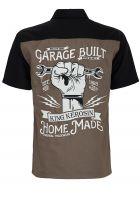 Worker Shirt Limited Edition von King Kerosin - Home Made / grau-schwarz