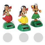 Dashboard Dancing Hula Girl in den Farben: grün / rot / gelb