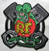 Patch - Rat Fink mit Kolben / with Piston