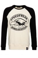 Raglan Sweater from King Kerosin - Speedfreak / off White - black