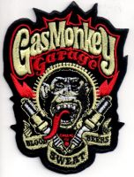 Patch - Gas Monkey Garage / Blood Sweat Beers