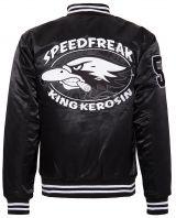 College Satin Jacket - Speedfreak / black