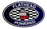 Vintage Race Sticker - Flathead Powered