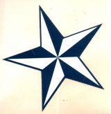 Sticker - Nautic Stern / blau