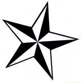 Sticker - Nautic Stern / schwarz
