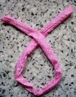 Fashion Headband /Haarband - Rosa mit kleinen weissen Punkten