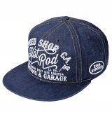 Snapback / Flat Cap from King Kerosin - Speed Shop, Hot Rod / Denim