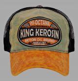 Vintage Trucker Cap - King Kerosin - Hi Octane / grün-braun