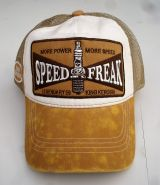 Trucker Cap von King Kerosin - Speed Freak / weiss-brown