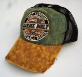 Trucker Cap von King Kerosin - Garage Built / grün-braun