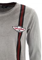 King Kerosin Vintage Oil Washed Langarm Shirt - Speed Shop CA. / grau