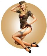 Pin up Sticker - Army 1.