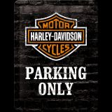 Blechschild klein - Harley-Davidson Parking Only